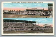 Arlington Downs Race Track~Dallas Fort Worth~Vintage Horse Racing PC 1943