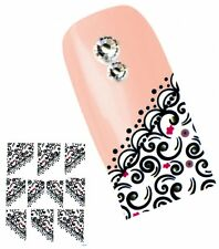 J030 NAGELSTICKER FRENCH STYLE Fingerspitzen Nail Art Tattoo Aufkleber