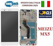 TOUCH SCREEN VETRO + LCD DISPLAY + FRAME Per MEIZU MX5 BIANCO - WHITE ORIGINALE