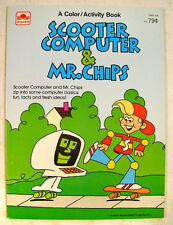 New! Scooter Computer & Mr. Chips COLOR BOOK Vintage Schoolhouse Rock! 80's RARE