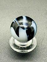 """Peltier Marble HTF Miller Swirl Blue Zebra Marble Blue Aventurine 0.669"""" NM-M"""