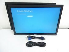 """LOT OF 2 Dell 22"""" P2210F UltraSharp HD Widescreen LCD Monitor (4) cable Included"""