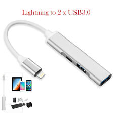 Camera OTG Adapter Cable Lightning to USB 3.0 Female Hub For iPad Phone 11 XS XR