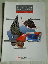 Vauxhall Light Vans & Pick Ups Accessories brochure Jun 1990