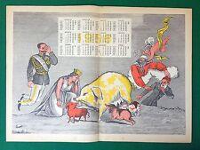 (V48) Poster Calendario Advertising 41x30 cm (1956) IL BORGHESE