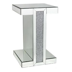Tuscany Mirrored End Side Table with Swarovski Crystals