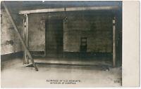 Galgen im Newgate prison in London, Orig. Silbergelatine-Photo um 1904