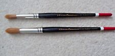 2 X PRO ARE CONNOISSEUR ARTIST BRUSHES,SERIES 100, SIZE 12+ 14