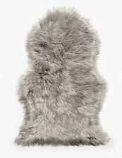 John Lewis Faux Fur Sheepskin Rug, Grey Tip HILE PILE 90 x 55cm NEW WITH TAGS