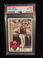 48599408 TONY GWYNN 1984 Topps 251 PSA 8 NM-MT HOF