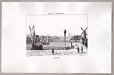 Amsterdam Niederlande - Ansicht mit dem Schloß - Stich, Kupferstich 1835