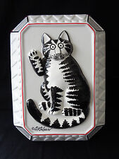 """Vintage B. Kliban """"Cat Plaque"""" Plaque by Sigma JAPAN rare in original box"""
