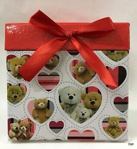 Gift Box Quatratform Teddy Heart 12x12x11, 5 CM Packaging