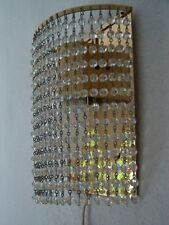 Wandlampe,70er Jahre,Messing/Kristall