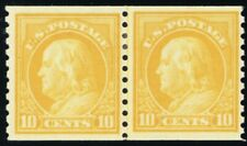 497, Mint VF H 10¢ Joint Coil Line Pair Cat $120.00 - Stuart Katz
