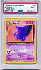 1999 Pokemon Fossil Gengar Non-Holo Rare 1st Edition #20/62 PSA 9 - POP 125