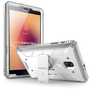 Poetic For Galaxy Tab A 8.0 Tablet Kickstand Case,Dual Layer Cover White