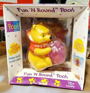 Pooh-Fun N ROUND Pooh Delightful Roly-Poly Action New year 2000
