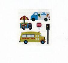 Vintage 80's Sandylion Mylar Foil Sticker - Ice Cream Truck and Bus
