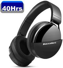 Casque Bluetooth sans Fil Casque Audio Stereo Hi-FI 40 Heures de Lecture Micro