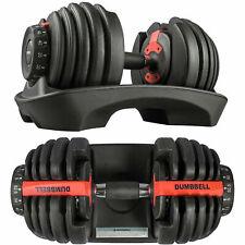Adjustable Dumbbells 2-24kg 5-52lb Selectable 15 Dumbbells in 1 Pair 2 Dumbbells