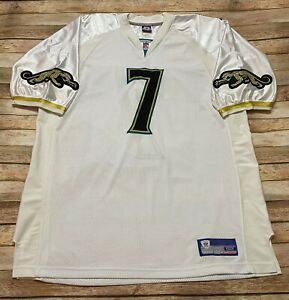 Authentic JACKSONVILLE JAGUARS Rare WHITE GOLD Jersey BYRON LEFTWICH Sewn NFL 52