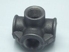1/2 Bsp 5 way Corner Tee, Black Galv Side Outlet Tee German , Project Fitting