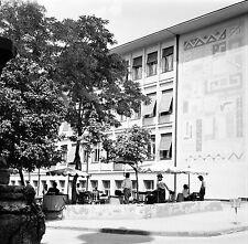 TURQUIE c.1960 -Terrasse de Café Mosaïque Immeuble Ankara- Négatif 6 x 6 - Tur 5