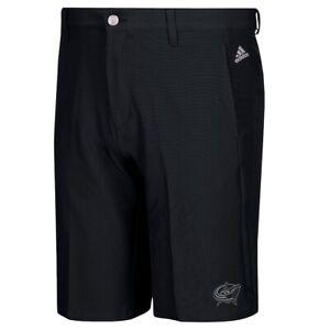 Columbus Blue Jackets NHL Adidas Men's Adi Golf Black Ultimate 3-Stripe Shorts
