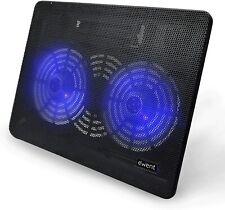 """Ewent Ew1255 Supporto Sistema di Raffreddamento per Notebook 15.6"""" con 2 Ventole"""