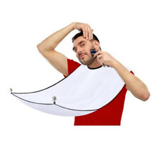 UK Men's Facial Hair Beard Apron Care Shave Cape Bib Trimming Catcher + Suction