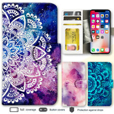 iPhone X 8 7 6 6s Plus SE Case Mandala IV Print Wallet Leather Cover For Apple