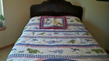 Pottery Barn Kids Dinosaur Quilt with Sham,Twin Sized