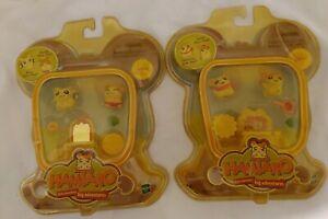 Hamtaro, figures little hamsters. Lot  of 2. Hasbro.