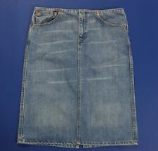 Levis 667 S gonna jeans mini gonna blu azzurra levi's boyfriend usata T2602