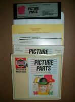 Vintage PICTURE PARTS Commodore 64/128 Educational Math Game disk Complete Rare