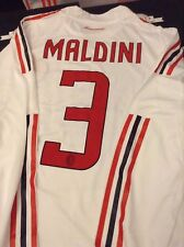 RARE *MALDINI* Final Season 2008-9 Adidas Player Issued AC MILAN Soccer Jersey