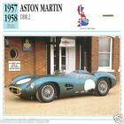 ASTON-MARTIN DBR 2 1957 1958 CAR VOITURE Great Britain CARTE CARD FICHE B