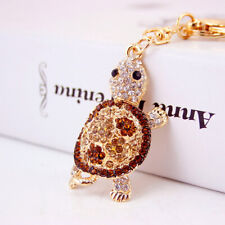 Men Women Keychain Pendant Bag Chain Cute Little Turtle Longevity Gold Color For