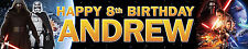 2 X Star Wars Force Awakens Personalised Birthday Banners