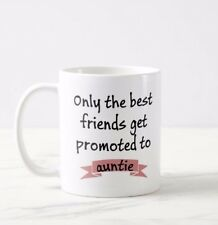 Personalised Best friends get promoted Auntie Mom Dad Mug Cup Present Gift Idea