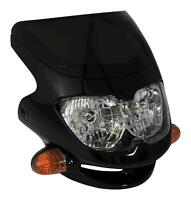 Bikeit Motorcycle Motorbike Dash Universal Screen Fairing Sport Headlight Black