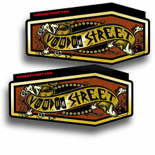 Coffin decals  by Voodoo Street, self adhesive, 110mm x 55mm
