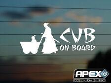 Lone WOLF & CUB-Baby a bordo-kozure OKAMI-Adesivo Vinile-Bianco