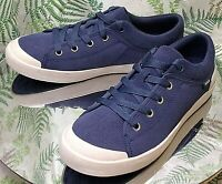 TEVA BLUE CASUAL LEATHER SNEAKERS WALKING COMFORT LACED SHOES US WOMENS SZ 8