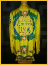 LIMITED EDITION! 1993 ARCHIVE! SOLD OUT! MIAMI FL VERSACE SILK SHIRT IT 56 - 3XL