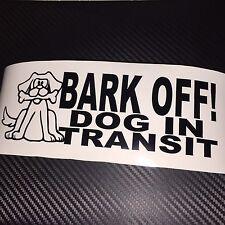 Cane NERO BARK OFF in transito Auto Adesivo Decalcomania Cucciolo Walker Pet Cani Guida K9