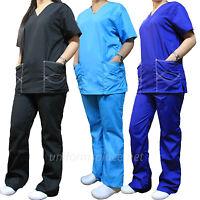 Medical Scrubs Set Women V-neck Top & Drawstring Pant Set ST101 Natural Uniforms