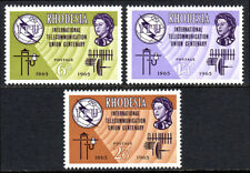 Rhodesia 200-202, MNH. ITU, cent. Old and new communication equipment,1965