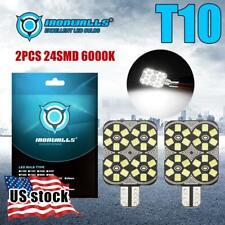10x T10/921/194/T15 RV Trailer Interior 12V 6000K White LED Light Bulbs 24 SMD